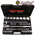 "T45750 21pc Ampro 3/4""Dr Socket  Set (SAE)"