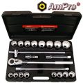 "T45755 21pc Ampro 3/4""Dr Socket  Set (Metric)"